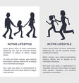 two active lifestyle bright vector image vector image