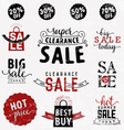 Typographical Sale Design Element in Vintage Style vector image