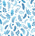 Watercolor blue seamless pattern vector image vector image