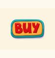 hand drawn buy web button internet button vector image