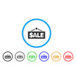 sale label rounded icon vector image