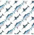 sea tuna fish animal nature food seamless pattern vector image