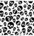 wallaper of black of skull on white vector image
