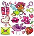 valentines day icons 1 vector image