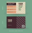 abstract creative business card template Eps10 vector image