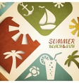 Abstract summer Retro beach vector image vector image