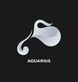 Aquarius Horoscope Icon vector image vector image