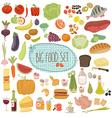 Big food set vector image vector image