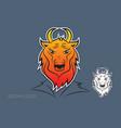 bison logo design vector image vector image