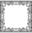black and white floral vintage frame vector image