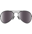 black sunglasses vector image vector image