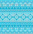 blue native american ethnic pattern vector image vector image