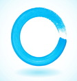 Bright blue paintbrush circle frame vector image vector image