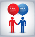 business colleagues concept vector image