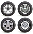 car wheels with rims vector image vector image