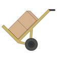 carriage trolley icon vector image