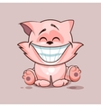 Cat with huge smile vector image