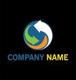 circle arrow technology logo vector image vector image