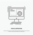 command computer function process progress icon vector image vector image