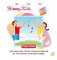 concept image playing happy kids vector image vector image