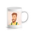 custom mug with print printed face photo vector image vector image