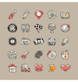Doodle Cars Icons Set vector image vector image
