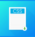 download css button downloading document concept vector image
