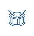 drums line icon concept drums flat symbol vector image vector image