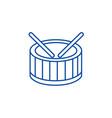 drums line icon concept drums flat symbol vector image vector image