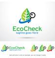 eco check logo template vector image