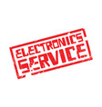electronics service rubber stamp vector image vector image