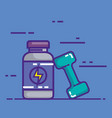 energy bottle product with dumbell vector image