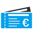 Euro Tickets Flat Icon vector image vector image