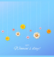 floral design of pattern from summer wildflowers vector image