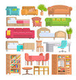 furniture furnishings design of bedroom vector image vector image