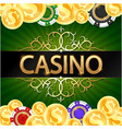 gold coins and casino chips game design vector image vector image