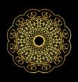 golden arabian style mandala vector image vector image