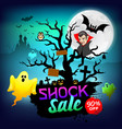 happy halloween dracula and ghost shock sale vector image