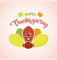 happy thanksgiving day concept funny colorful vector image vector image