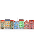 houses combination old european colored vector image vector image