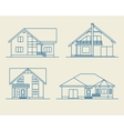 Houses linear 5 vector image vector image