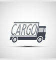 icon truck of cargo delivery vector image vector image