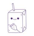 kawaii juice box with straw cute cartoon isolated vector image
