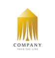 luxury tent logo template for target market vector image