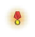 Medal comics icon vector image