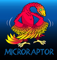 Microraptor cute character dinosaurs vector image vector image