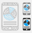 mobile report mesh network model and vector image vector image