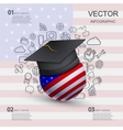 modern education infographic background vector image vector image