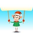 monkey 2016 year banner vector image