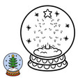 numbers game for children snowball with christmas vector image vector image